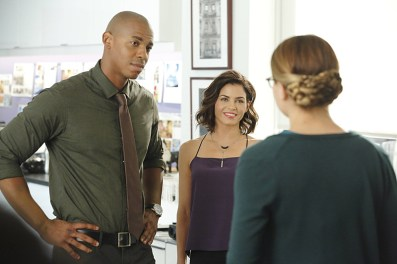 """""""Fight or Flight"""" -- Supergirl's powers are tested when Reactron, one of Superman's formidable enemies, arrives in National City and targets the young hero, on SUPERGIRL, Monday, Nov. 9 (8:00-9:00 PM, ET/PT) on the CBS Television Network. Pictured left to right: Mehcad Brooks, Jenna Dewan-Tatum and Melissa Benoist Photo: Trae Patton/CBS ©2015 CBS Broadcasting, Inc. All Rights Reserved"""