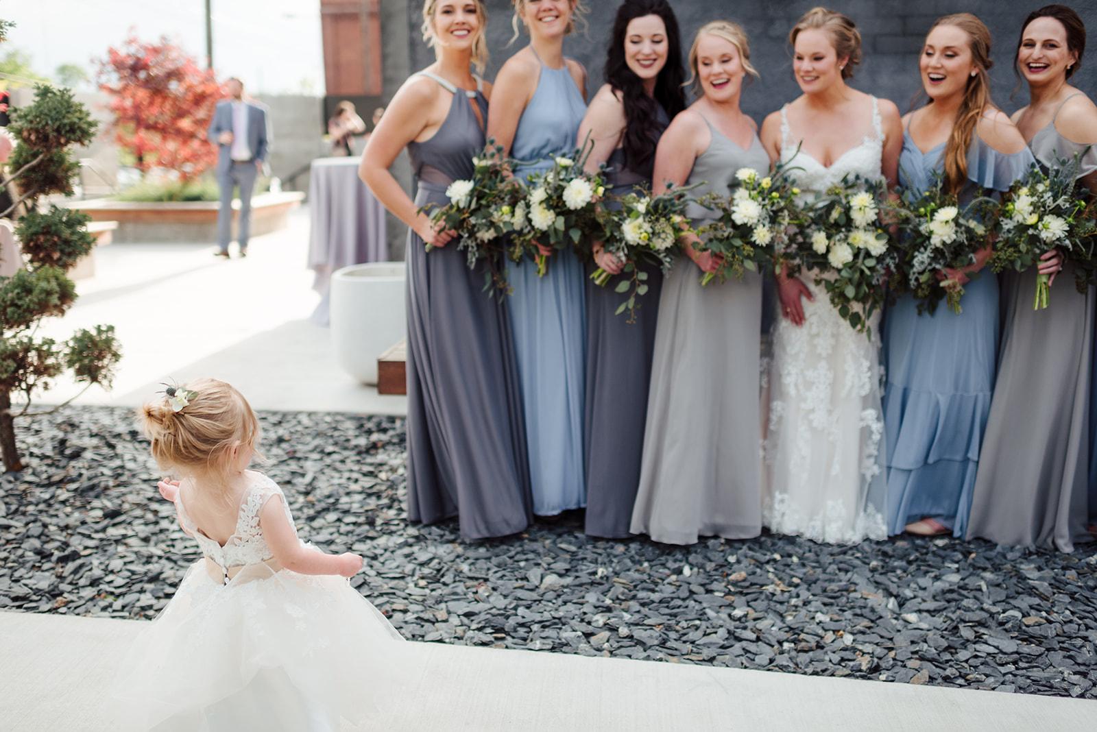 Flower girl photos: Nashville wedding at Clementine featured on Nashville Bride Guide