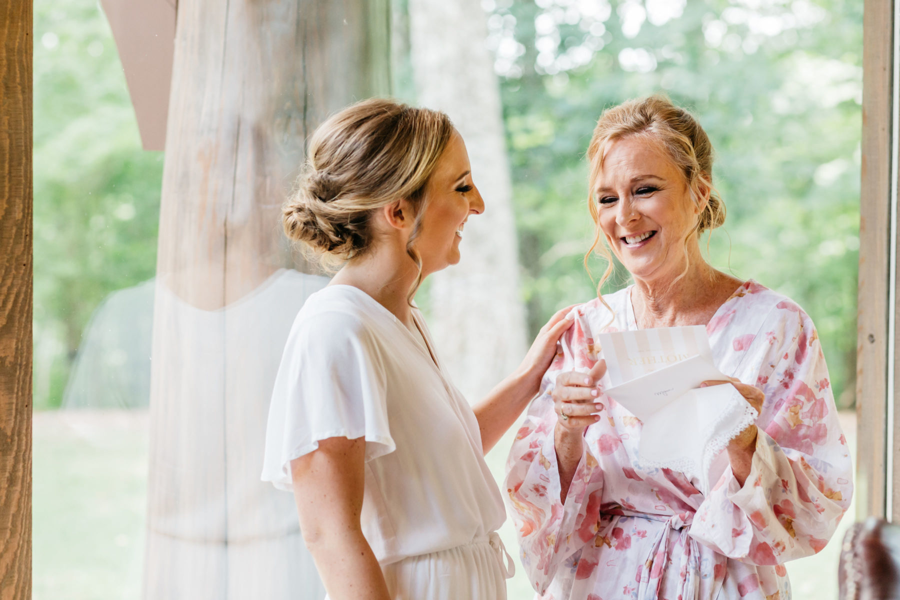 Mother/daughter wedding photos: Rustic Front Porch Farms wedding featured on Nashville Bride Guide