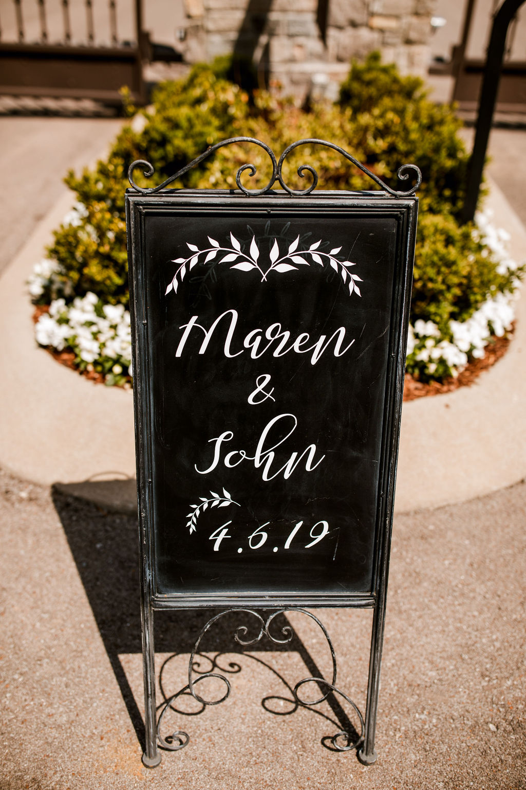 Wedding Sign: Beautiful Graystone Quarry Wedding captured by John Myers Photography & Videography