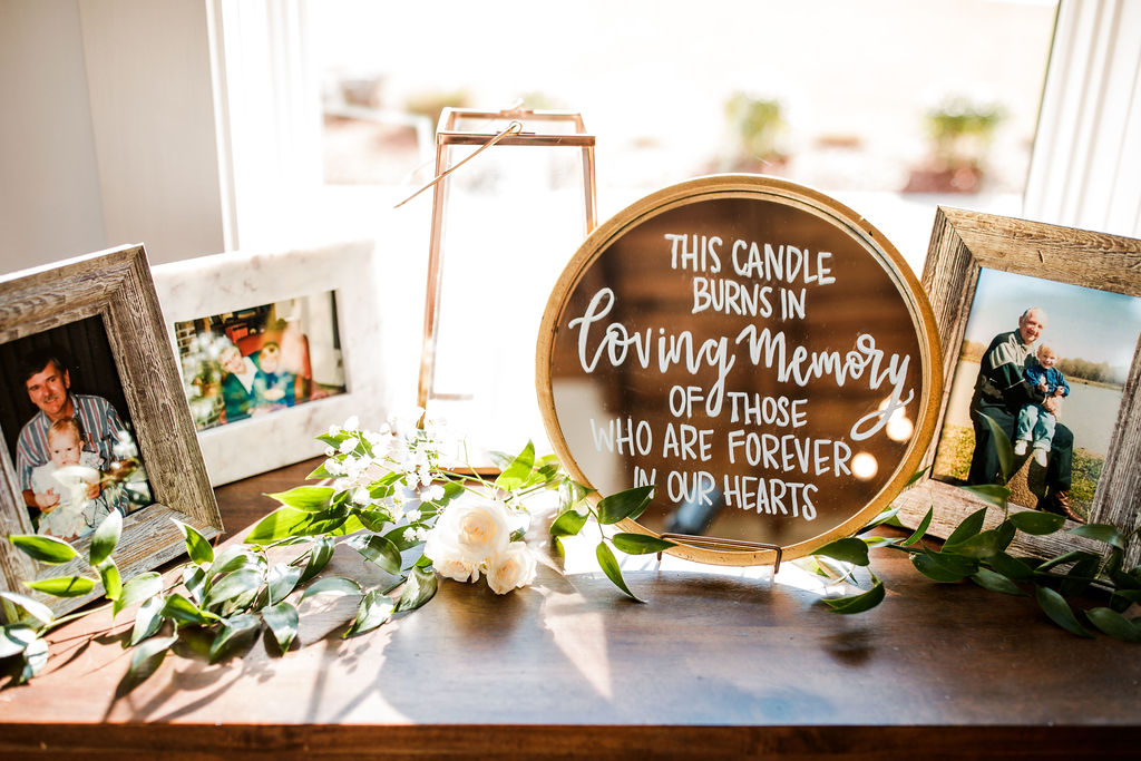 Handwritten In Memory Of Wedding Sign: Beautiful Graystone Quarry Wedding featured on Nashville Bride Guide!