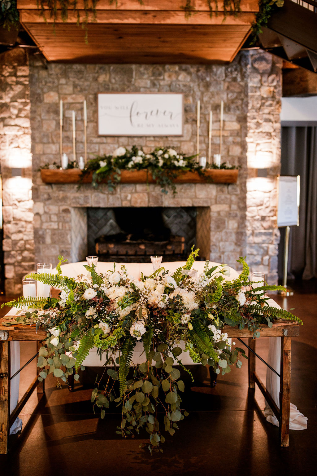 Wedding Sweetheart Table Decor: Beautiful Graystone Quarry Wedding featured on Nashville Bride Guide!