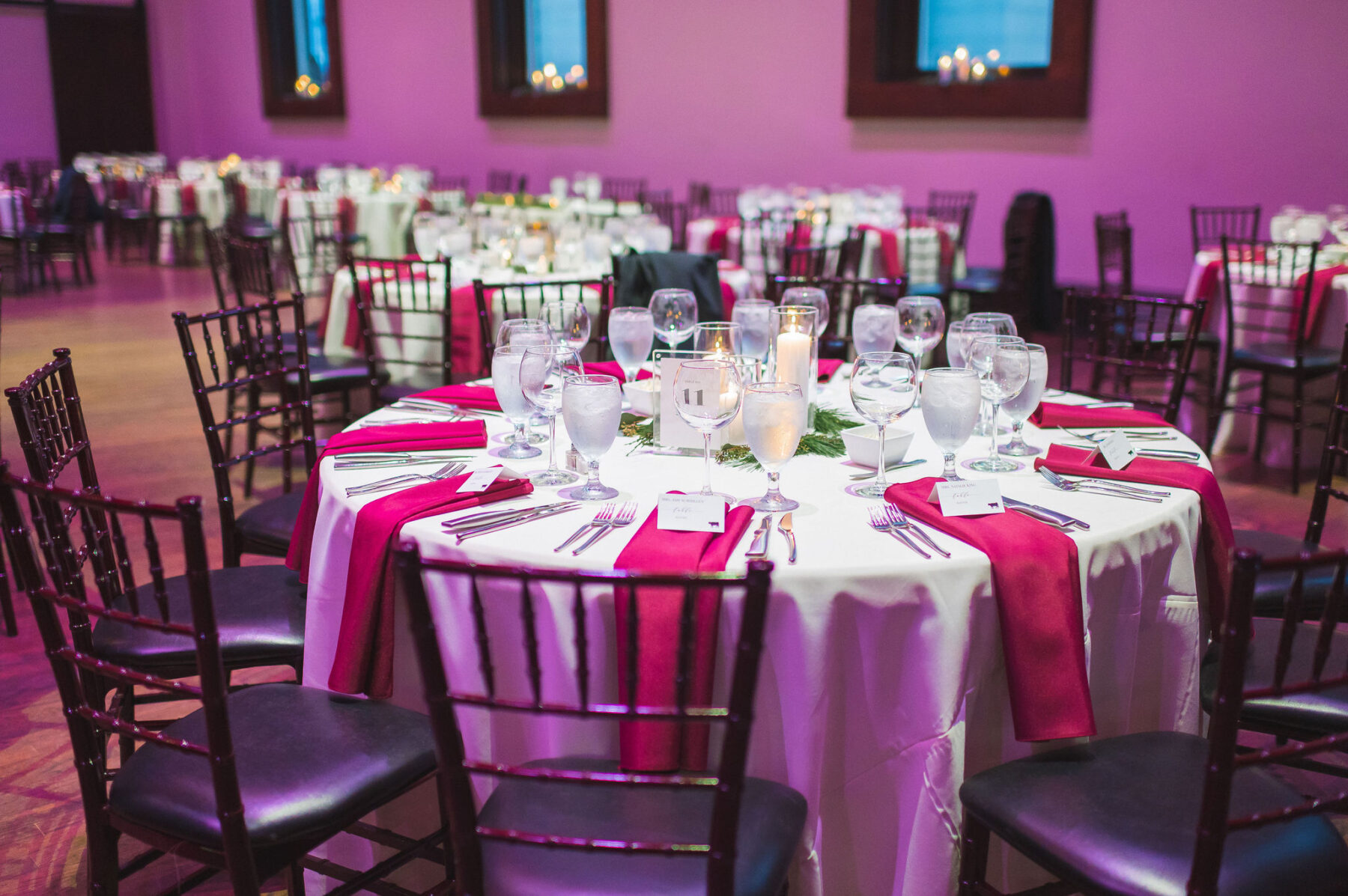 Wedding reception at The Bell Tower: Classic Winter Wedding by Details Nashville