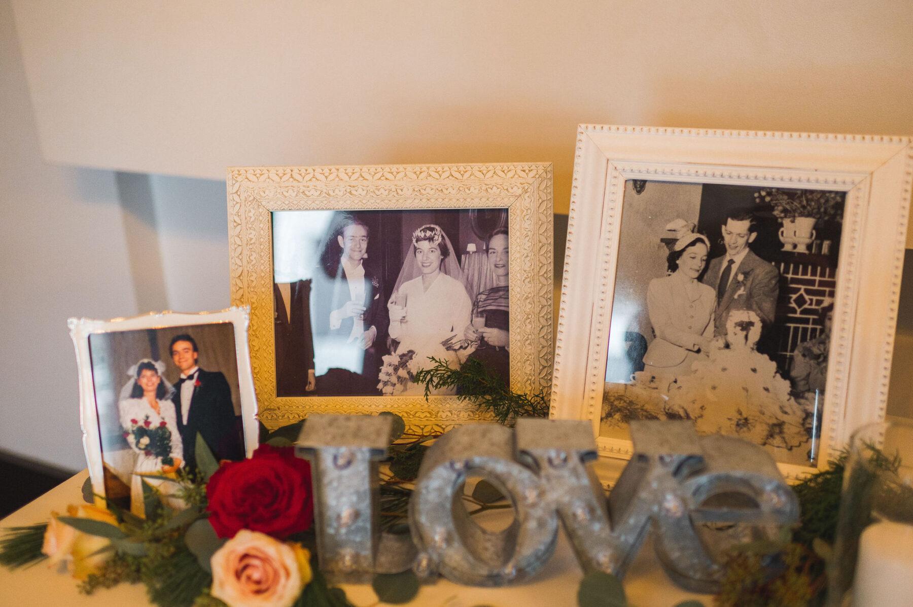 Generational wedding photos on display: Classic Winter Wedding by Details Nashville