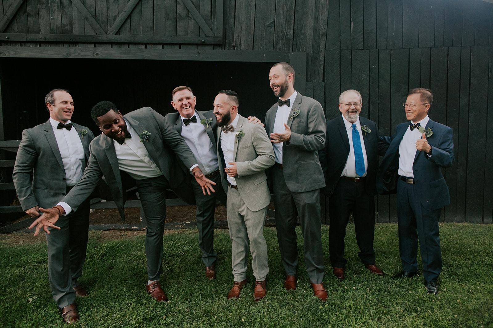 Groom and groomsmen: Summer Soiree at Cedarwood Weddings featured on Nashville Bride Guide