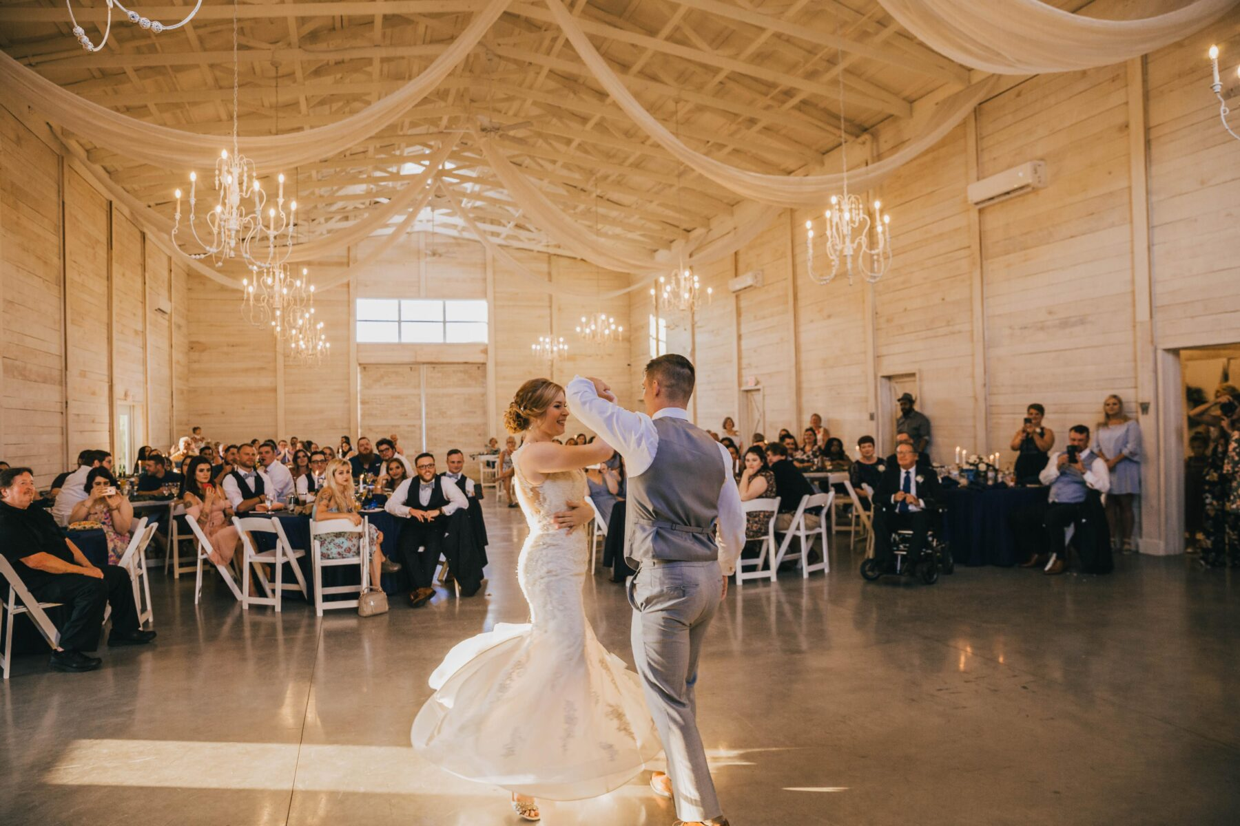 First dance: White Dove Barn Wedding by Grace Upon Grace Photography featured on Nashville Bride Guide