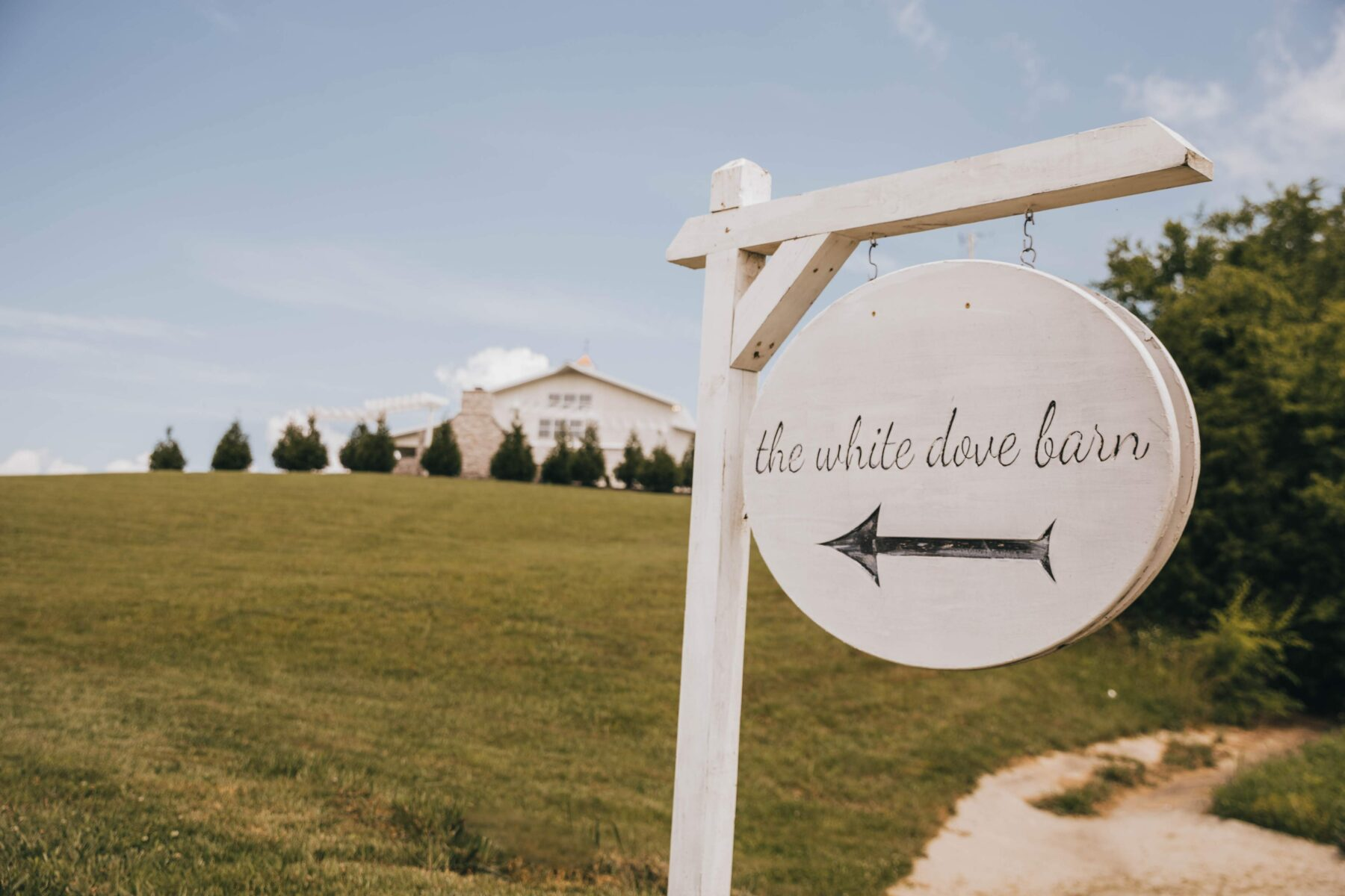 White Dove Barn Sign: White Dove Barn Wedding by Grace Upon Grace Photography featured on Nashville Bride Guide
