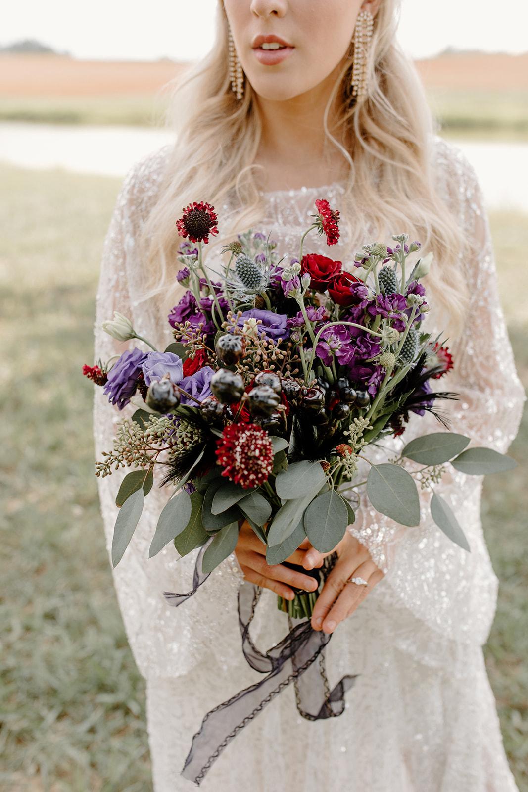 Multicolor wedding bouqer