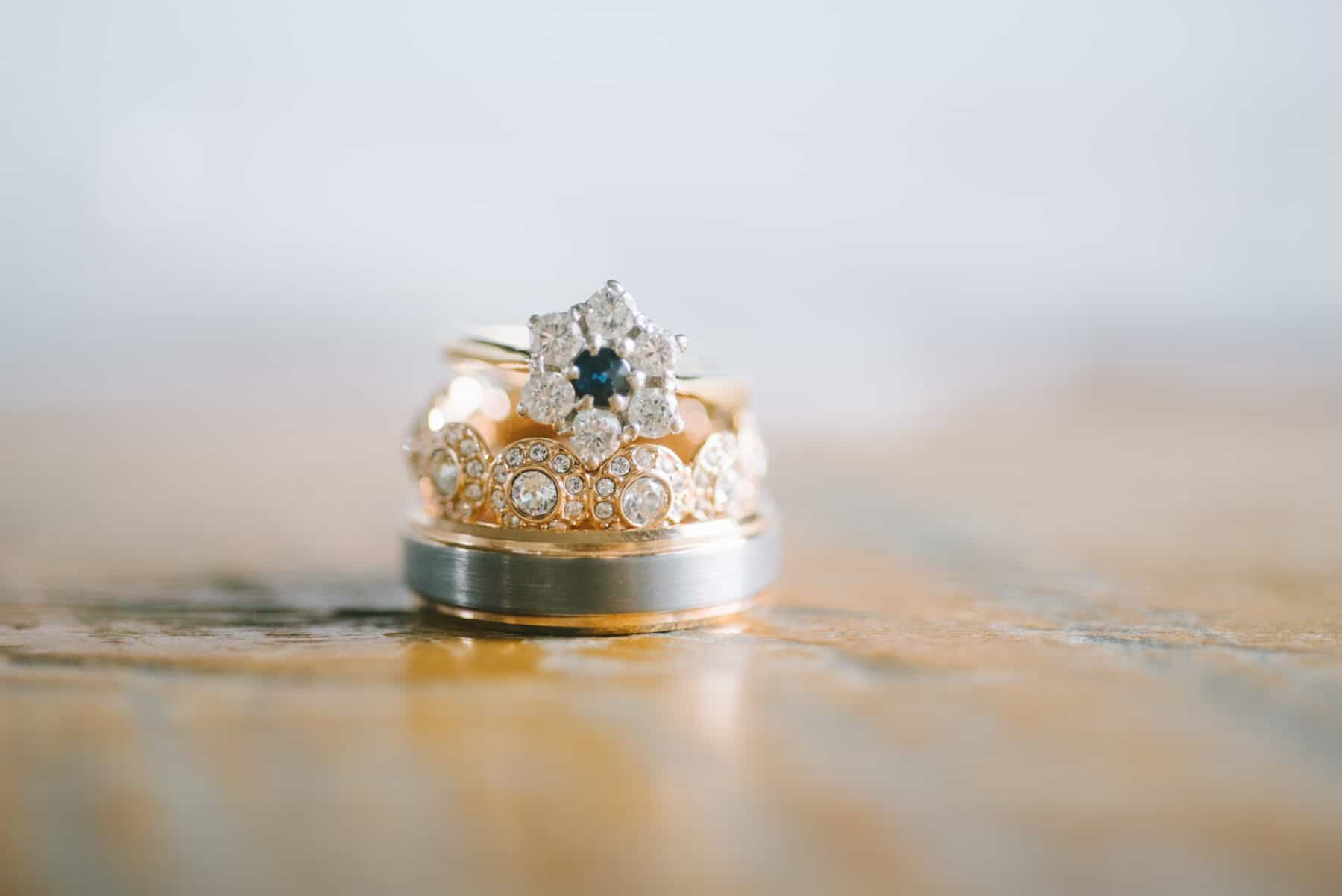 Blue diamond vintage engagement ring   Nashville Bride Guide