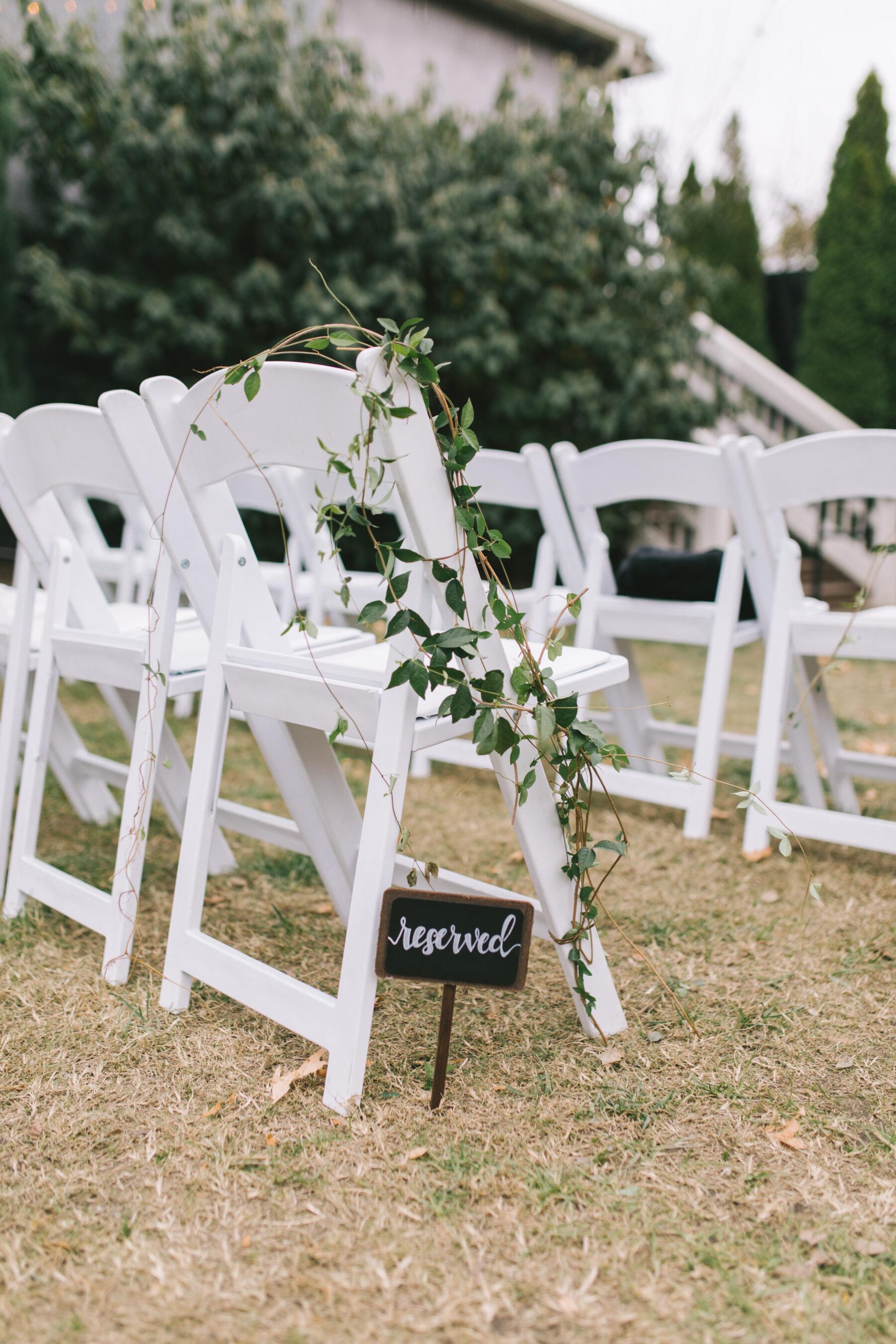 Reserved wedding ceremony sign   Nashville Bride Guide