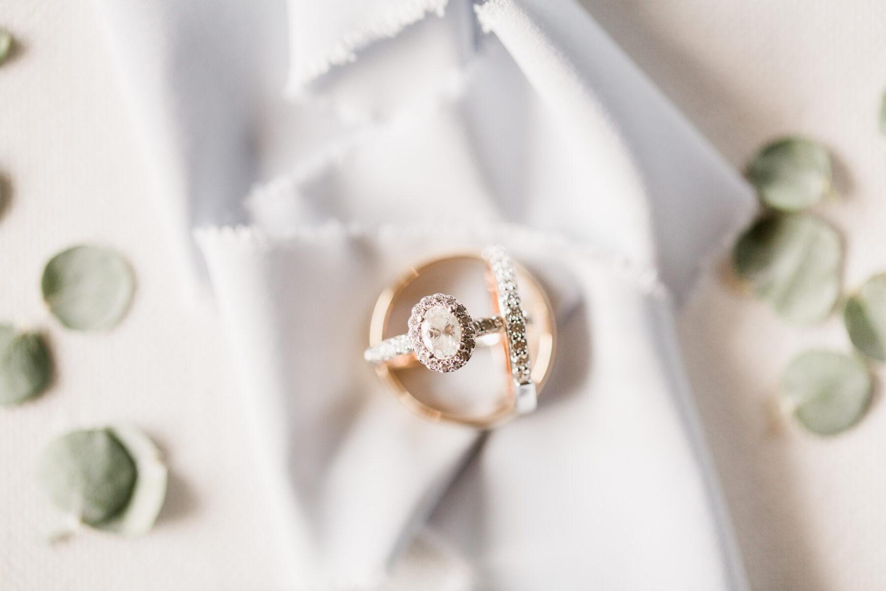 Oval Halo Engagement Ring and Wedding Bands   Nashville Bride Guide
