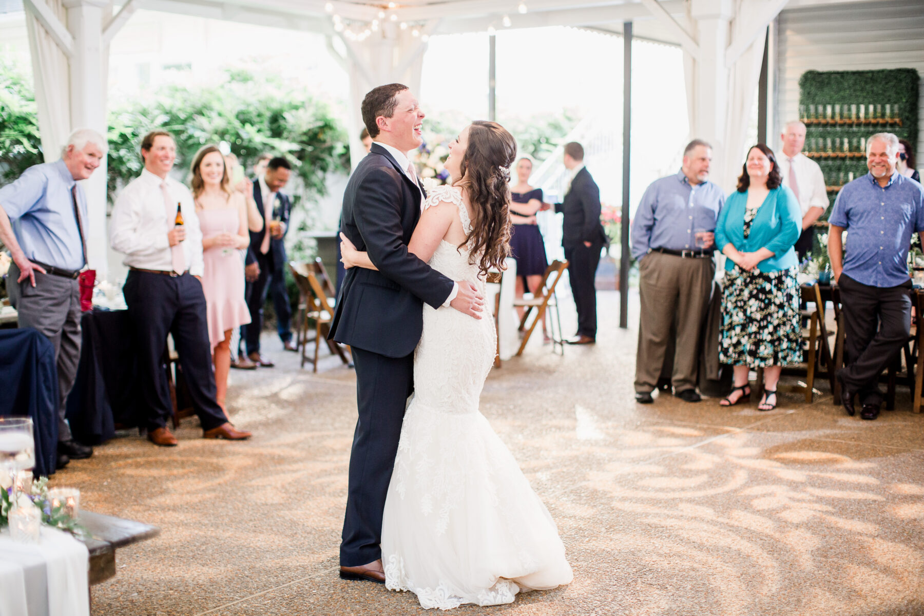 Wedding first dance at CJ's Off the Square   Nashville Bride Guide