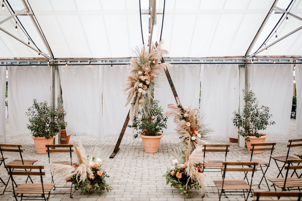 Greenhouse wedding ceremony decor | Nashville Bride Guide