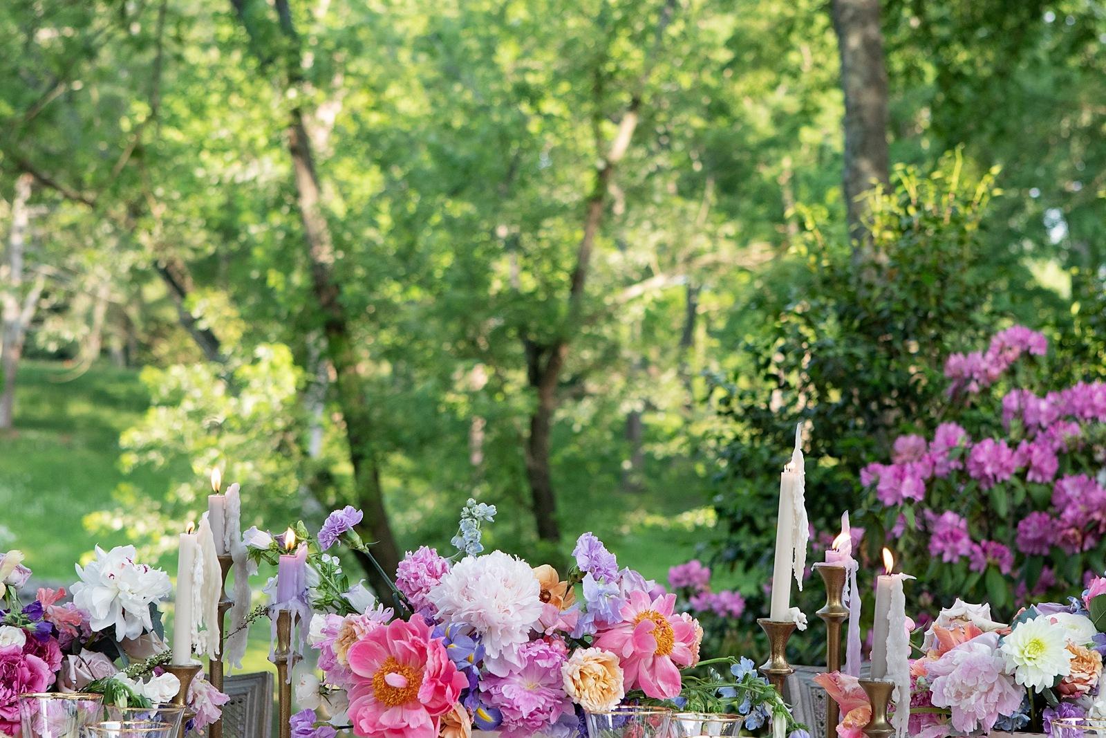 Monet garden spring wedding inspiationr