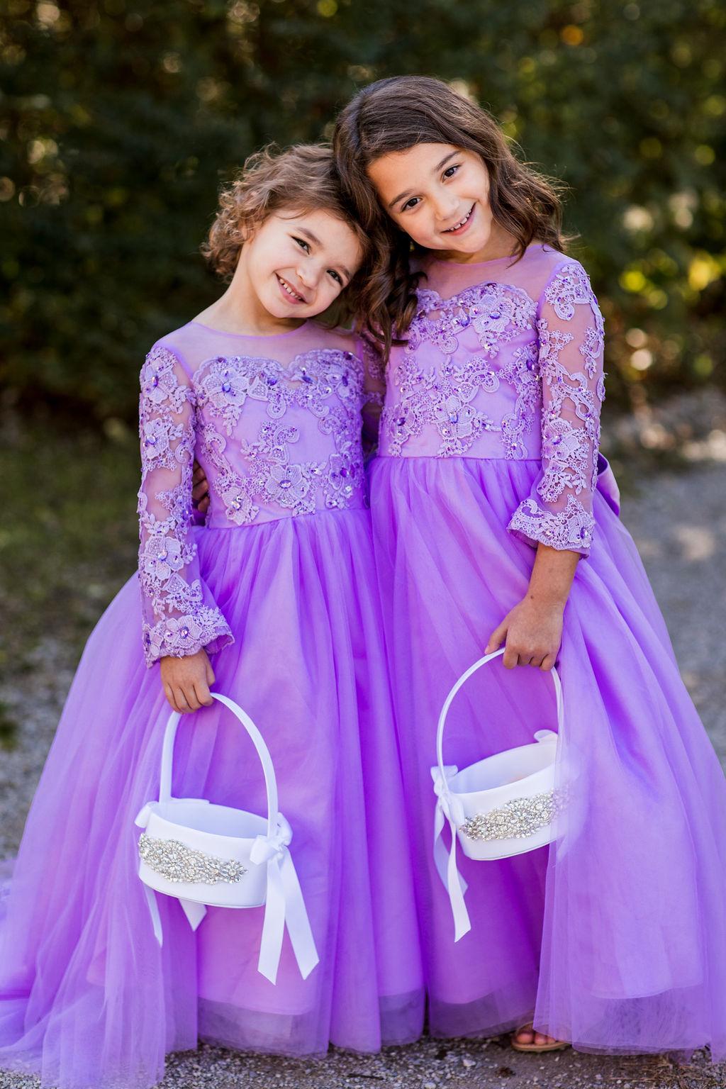 Lavender flower girl dresses   Nashville Bride Guide