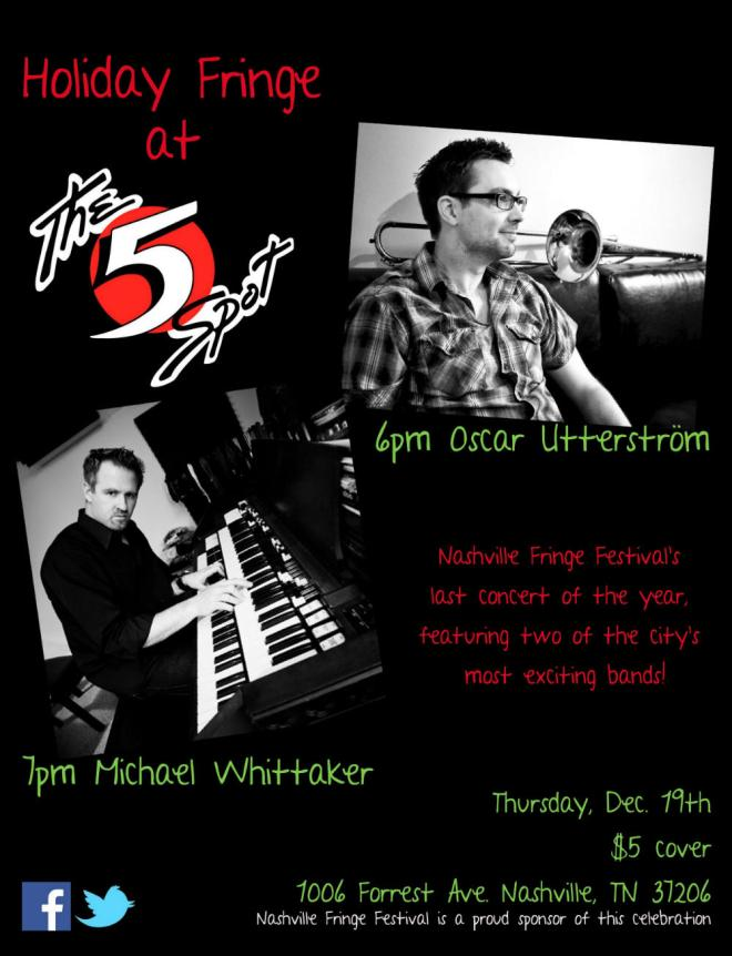 Oscar Utterstrom and Michael Whittaker at the Five Spot