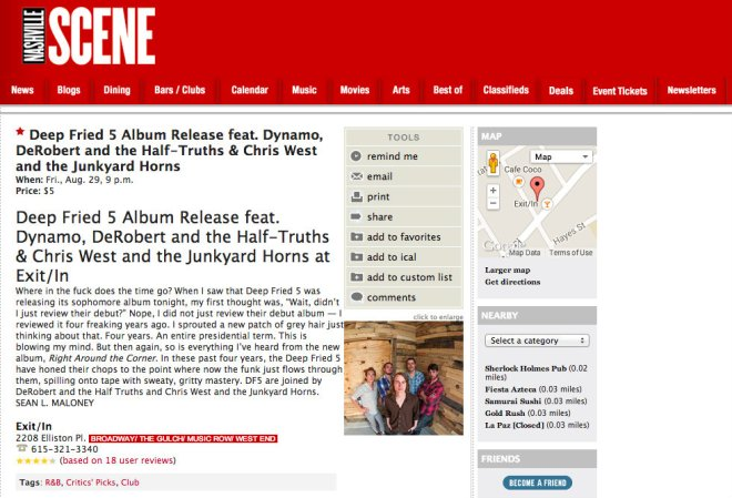 Nashville Scene Deep Fried 5 Critics Pick