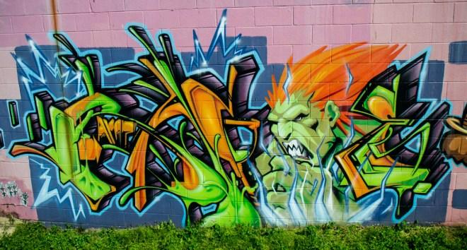 Street Fighter Graffiti Street Art Division St Nashville 02