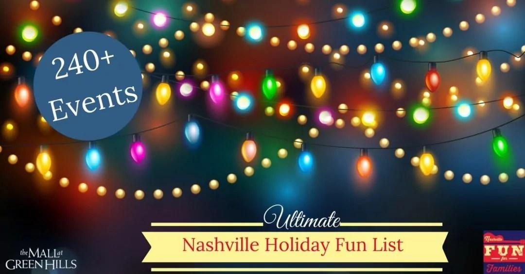 Ultimate Nashville Christmas Holiday Fun List