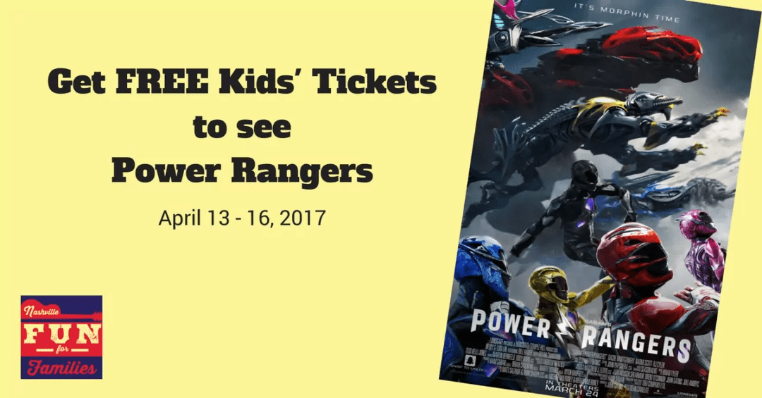 Get FREE Kids' Tickets to see Power Rangers!