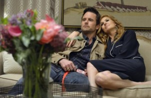 """NASHVILLE - """"A Picture from Life's Other Side"""" - Rayna finds an unlikely ally in Lamar when he sides with her against Teddy about the girls. Jolene sees Juliette struggling and tries to find a way to help. Avery and Will, separately, both get a chance to shine with bigger stars -- but will it translate to career gold? And Tandy takes her own agenda to the board of Wyatt Industries, on """"Nashville,"""" WEDNESDAY, MAY 15 (10:00-11:00 p.m. ET) on the ABC Television Network. (ABC/Katherine Bomboy-Thornton) CHARLES ESTEN, CONNIE BRITTON"""