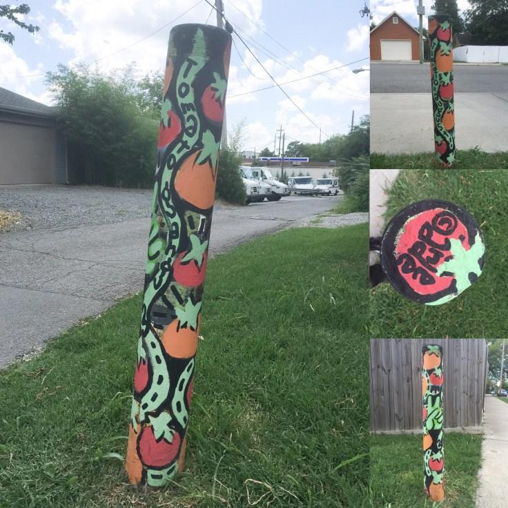 Tomato mural street art Nashville