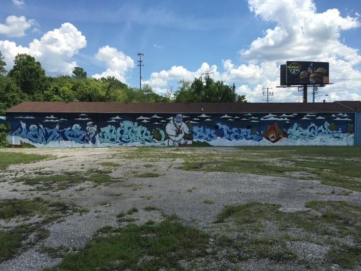 Christmas graffiti mural street art Nashville