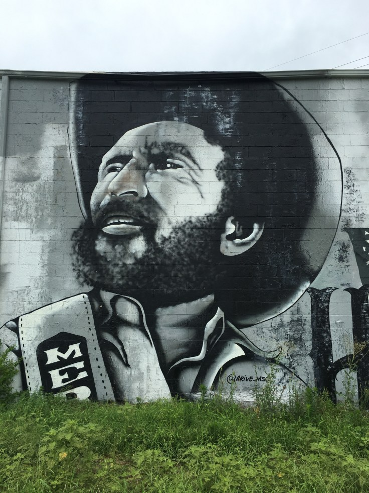Merle Haggard mural portrait Nashville srreet art