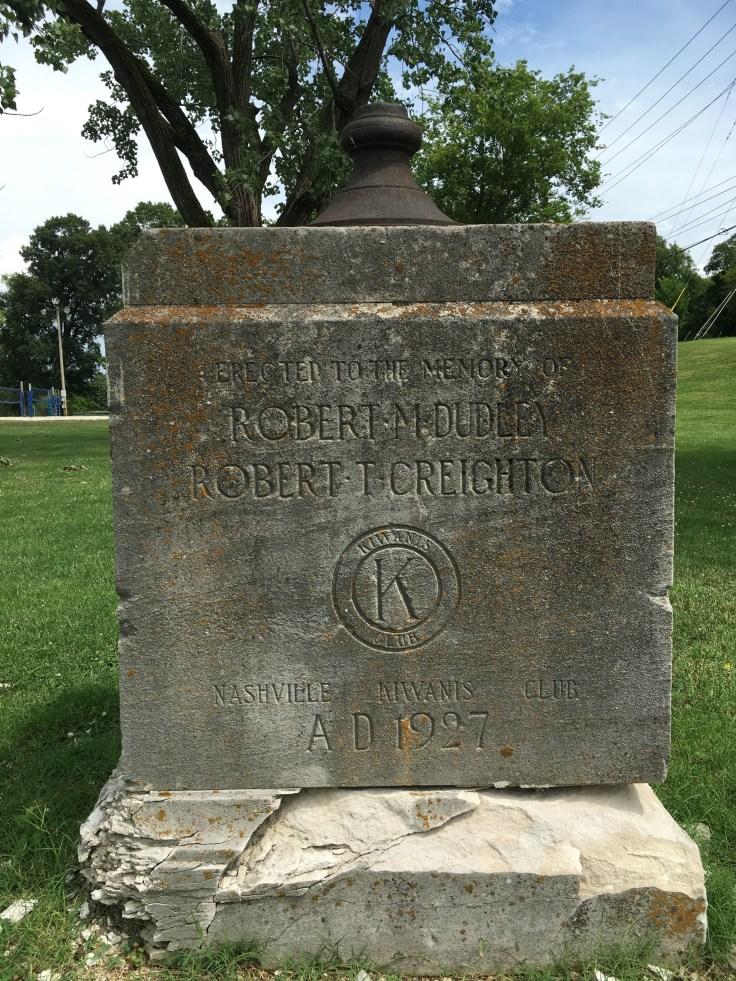 Robert M. Dudley and Robert T. Creighton memorial Nashville