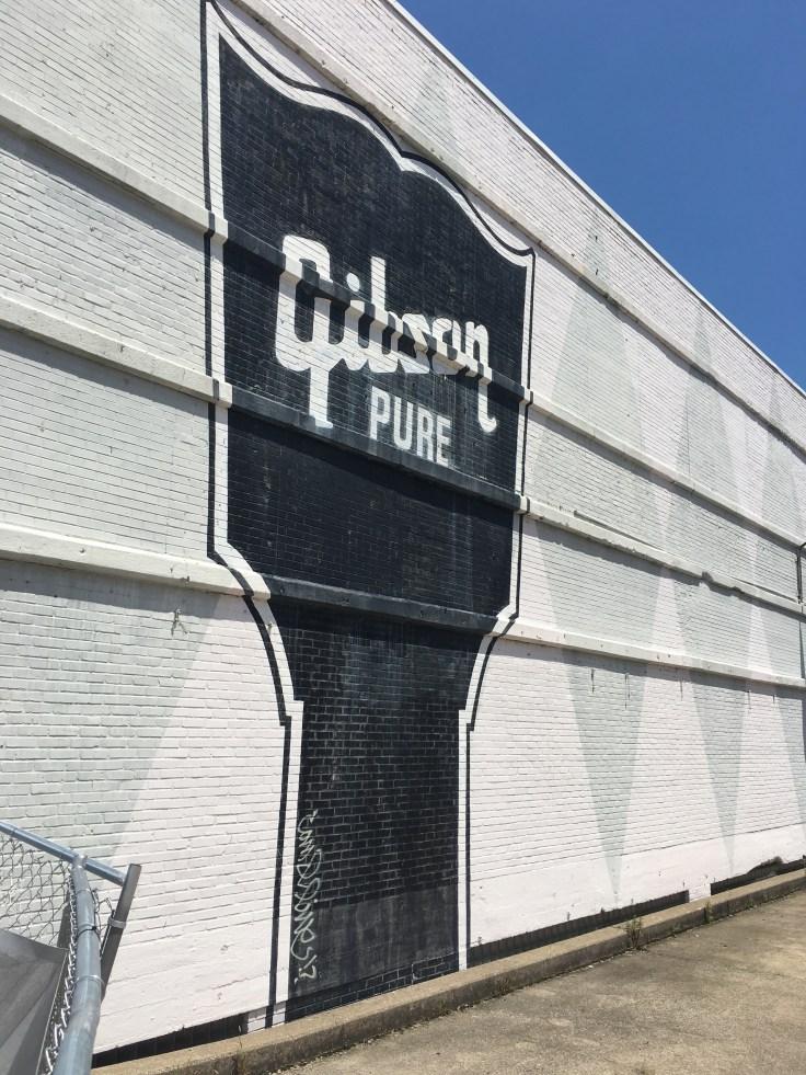 Gibson sign mural street art Nashville