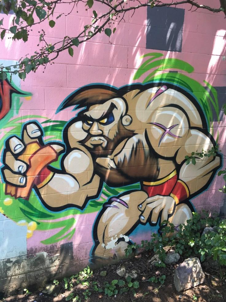 Fighter mural street art Nashville