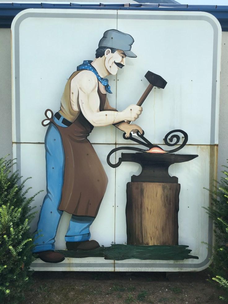 Blacksmith metal art street art Nashville