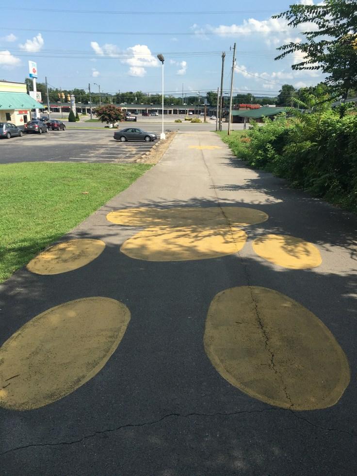 Pawprints mural street art Nashville