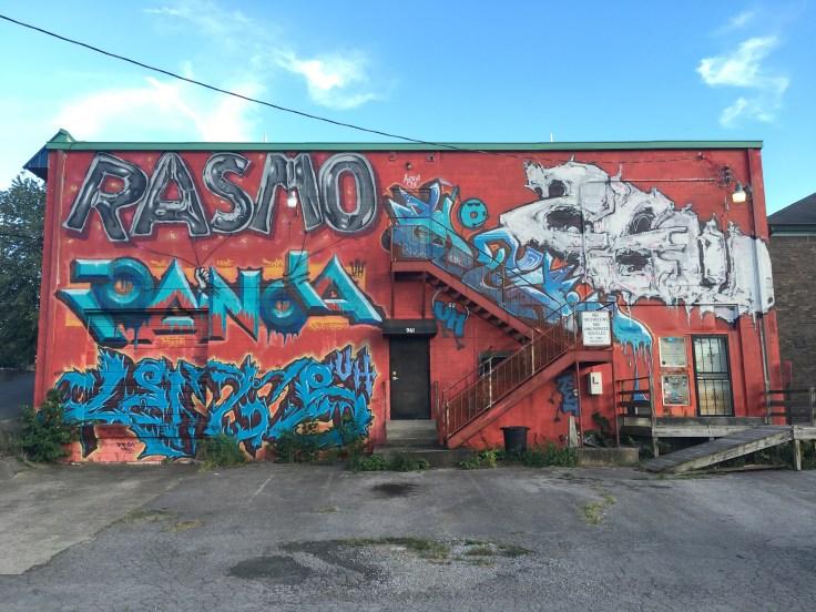 Graffiti tags mural street art Nashville