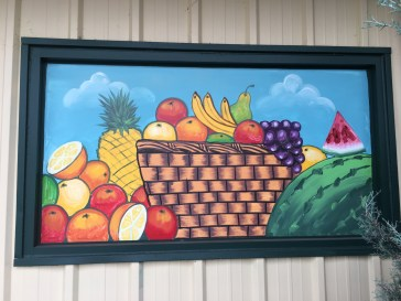 Fruit basket mural street art Nasville