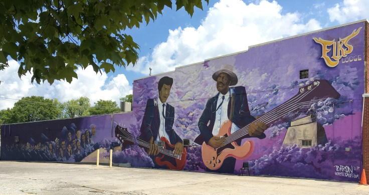 Guitarists mural street art Nashville
