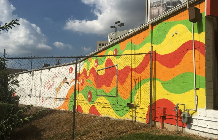 Colorful mural sigh street art Nashville