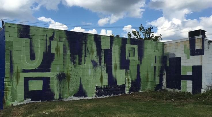 Graffiti street art mural