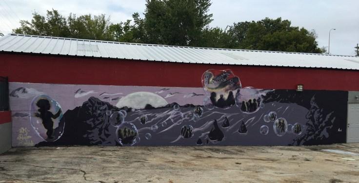 Bubbles mural street art Nashville