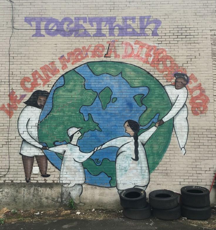 World mural street art Nashville