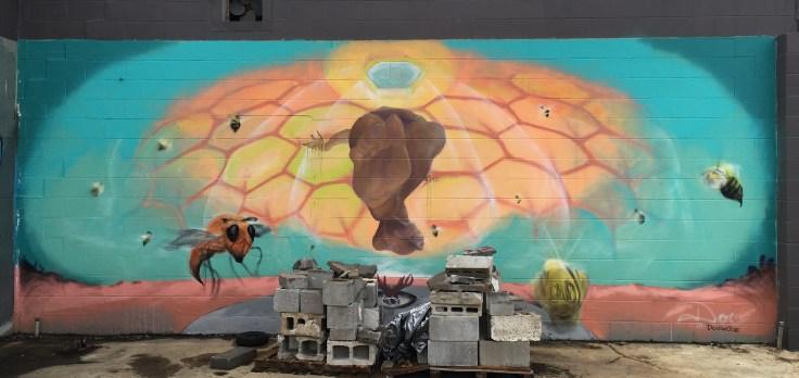 Bees mural street art Nashville