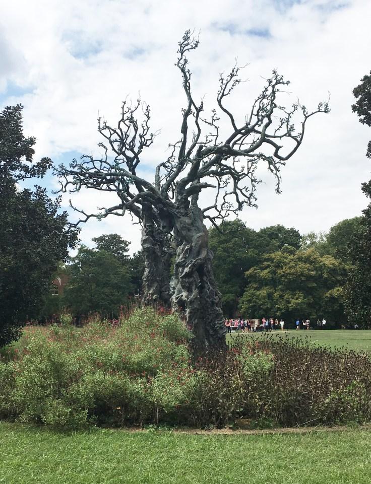 Tree statue Vanderbilt art Nashville
