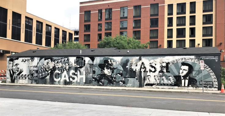 Johnny Cash Mural street art Nashville