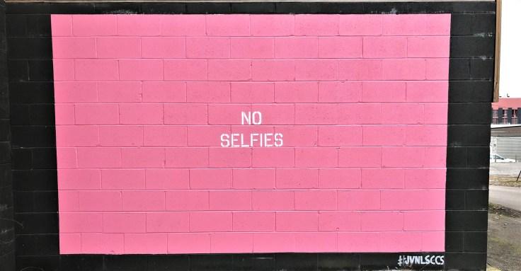 No selfies street art mural by Adrien Saporiti East Nashville