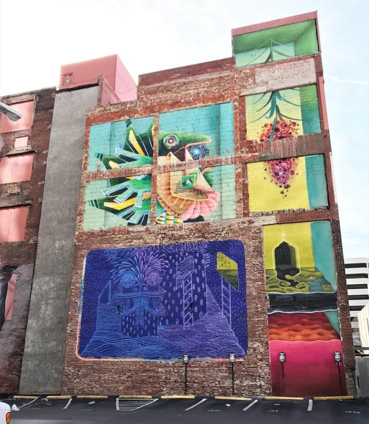 Abstract mural street art Nashville