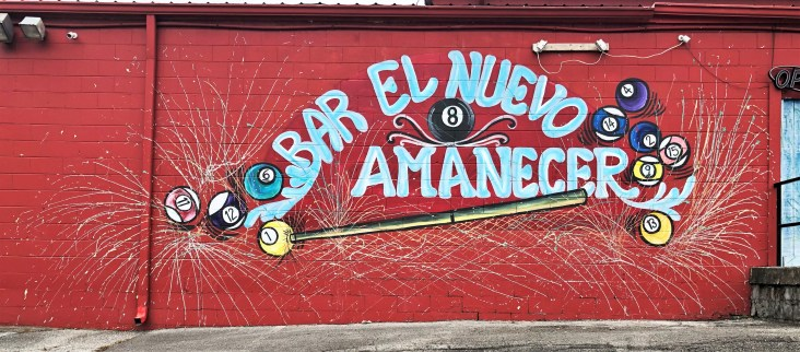 Billiards mural street art Nashville