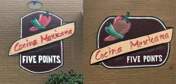 Mexicana mural sign street art Nashville