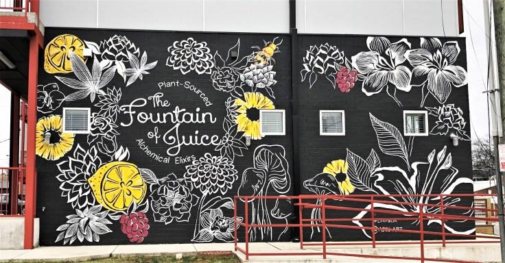 Juice mural street art Nashville