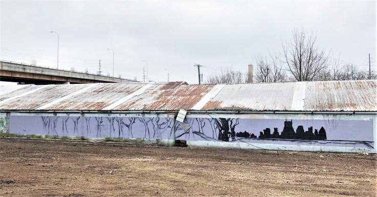 Skyline mural Nashville street art
