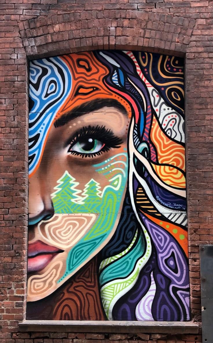Gaia mural street art Nashville